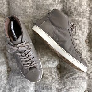Gianvito Rossi Leather High Top Sneakers 43.5 9.5